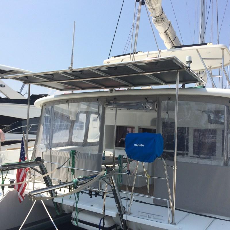 Custom Solar Panel Frame for Catamaran built by Multitech Marine