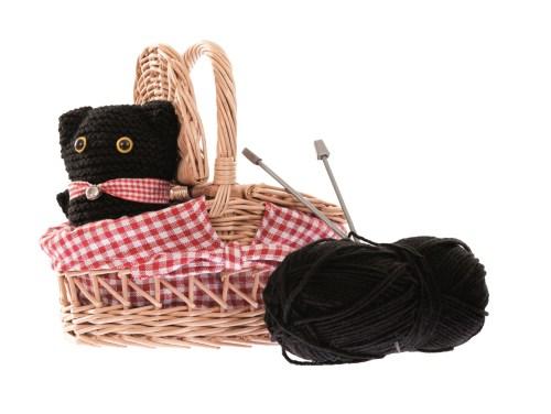 knitting kit cat