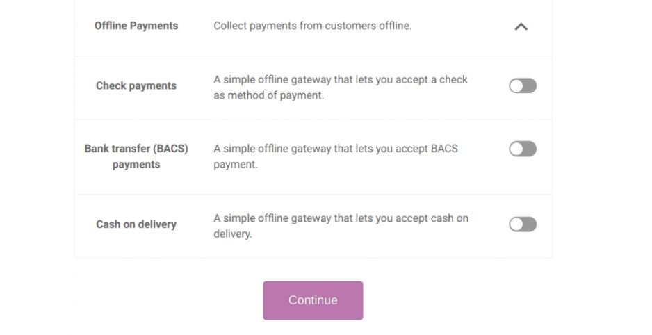 Offline Payment Option