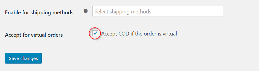 Enable COD for virtual products