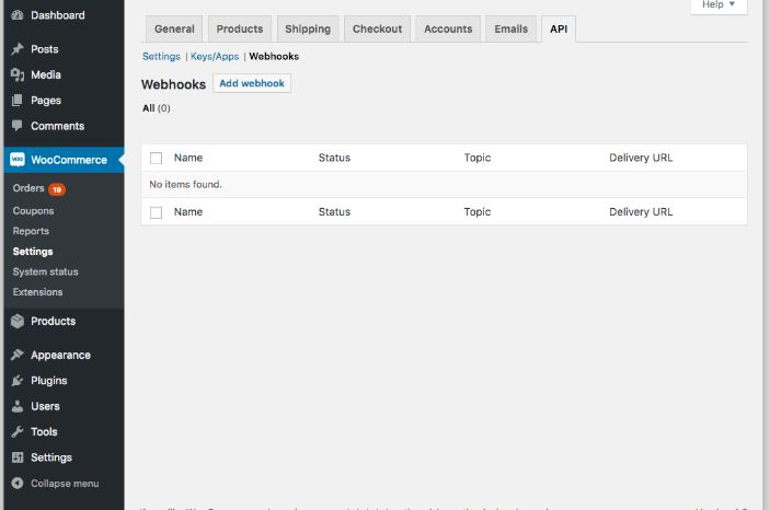 Webhooks in WooCommerce