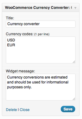 WooCommerce Currency Converter Widget Multi currencies