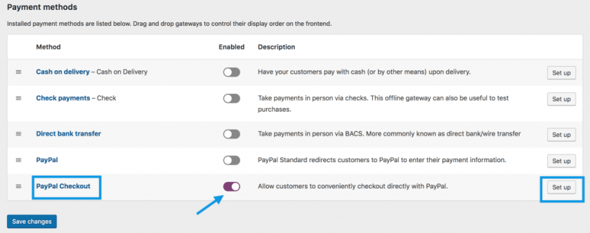 WooCommerce PayPal Checkout Enable
