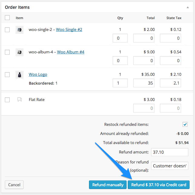 WooCommerce USA ePay Auto Refund