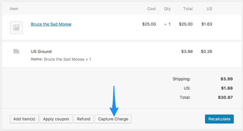 WooCommerce USA ePay capture charges