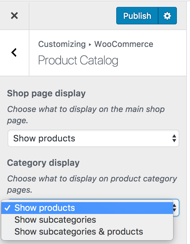 Category Display Page