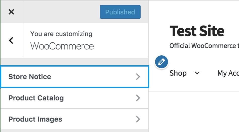 Edit or remove store notice