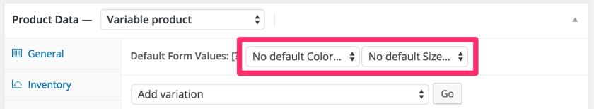 Settings default