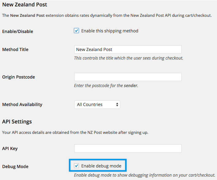 Shipping New Zealand settings