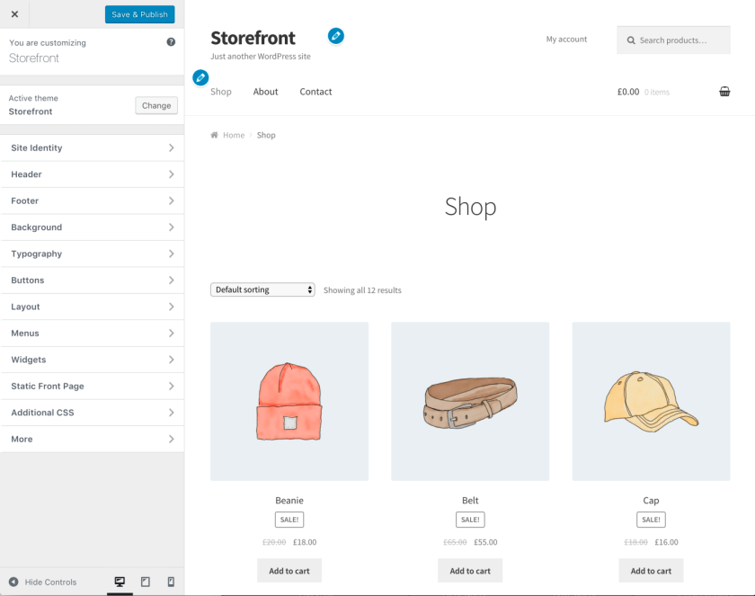 Storefront Starter Content