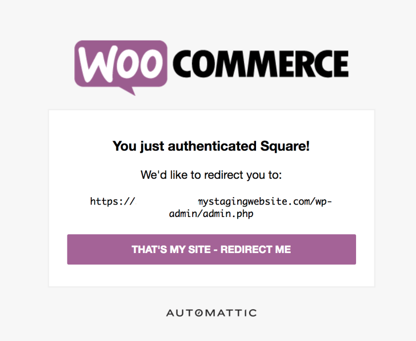 Woo Square Authentication