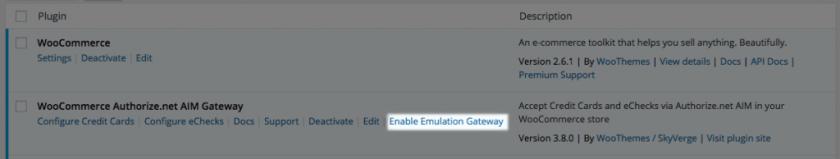 woocommerce authorize net aim enable emulation