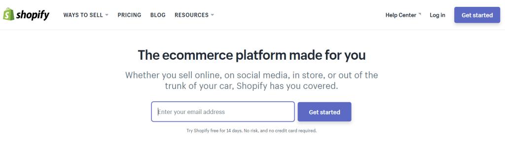 Shopify open source eCommerce Platform