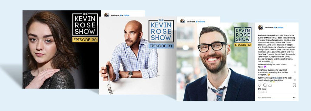 Create podcasts and advertise them on IG b2b sales marketing