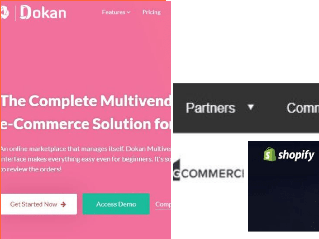 Comparison Between Dokan vs Magento vs Bigcommerce vs Shopify