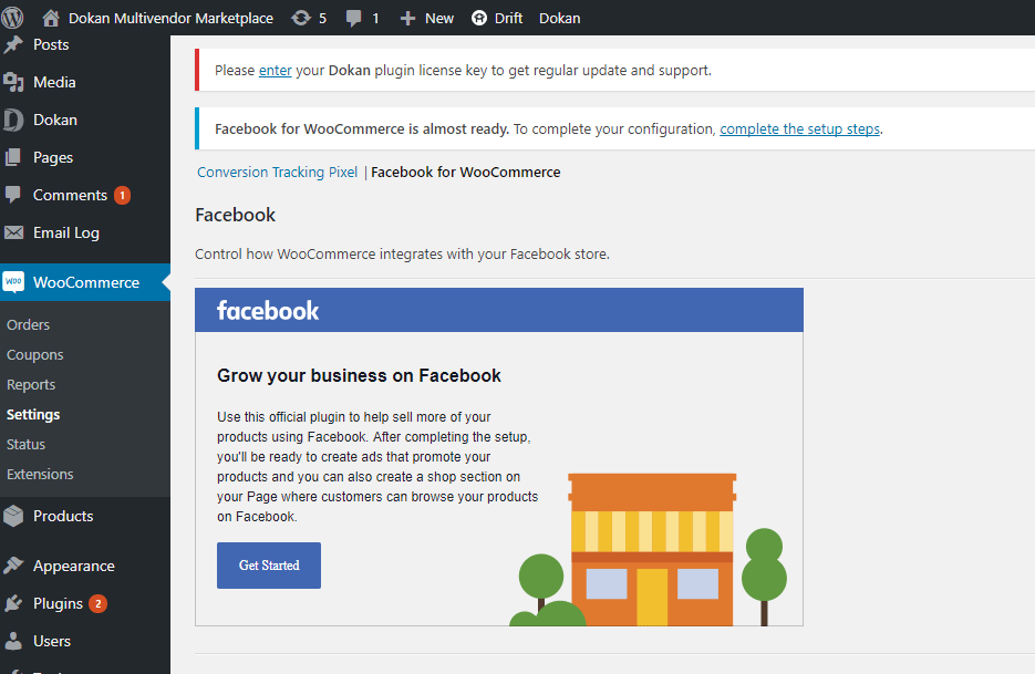 Facebook for WooCommerce integration