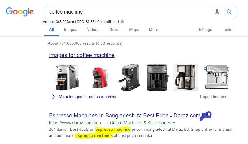 Google Search LSI Keyword