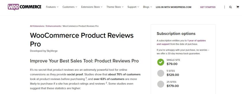 WooCommerce Products Reviews Pro to Improve WooCommerce Sales