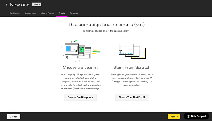 Drip Email Marketing Service Build Campaign