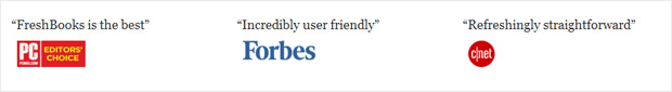 Freshbooks Media Mentions as Social Proof