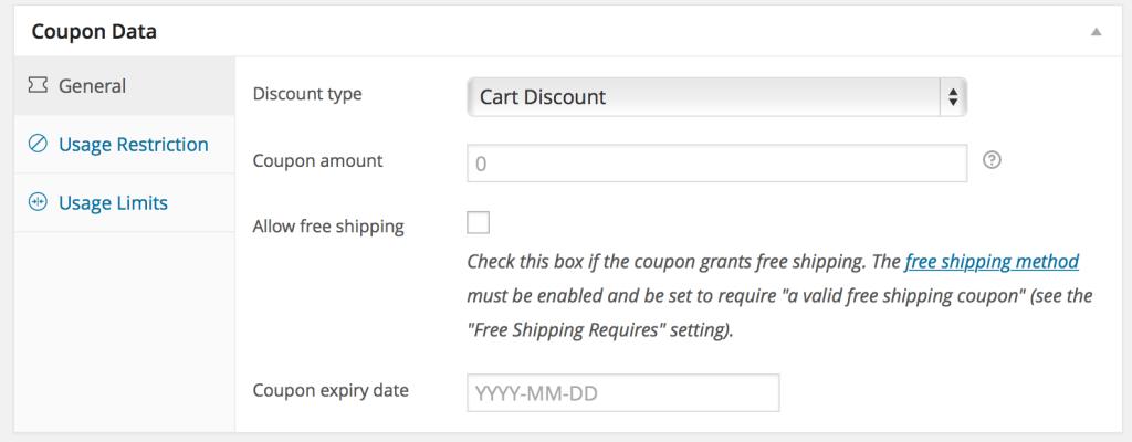 WooCommerce Coupon Data