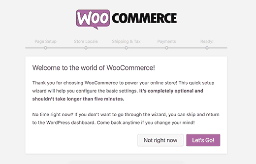 WooCommerce vs Shopify: WooCommerce Welcome Note