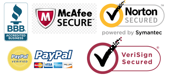 Display trust logos for security and safety
