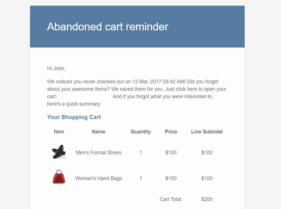 WooCommerce Abandoned Cart Emails Reminder