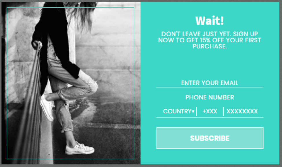 Email Marketing List: Interactive Popup