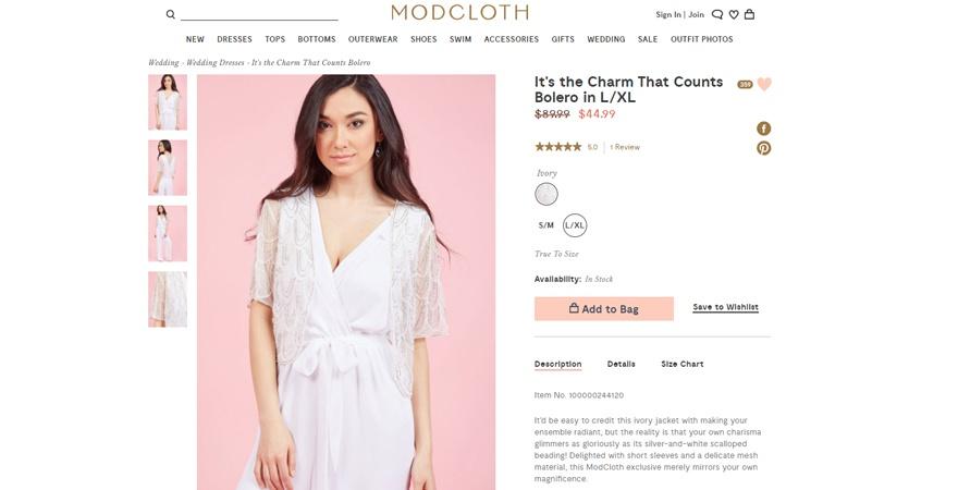 Product Descriptions Mod Cloth