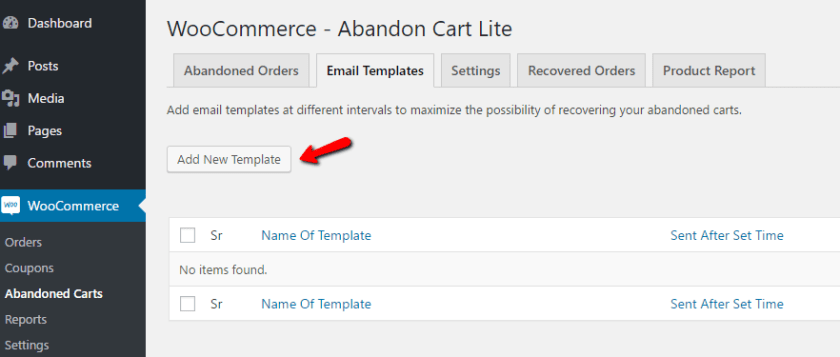 WooCommerce Abandoned Cart Emails Create