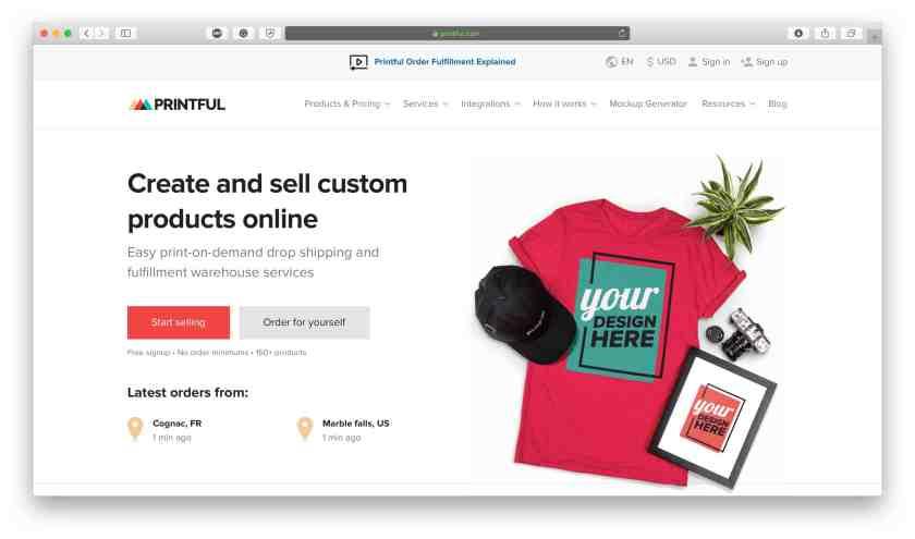 Printful WooCommerce dropshipping plugins