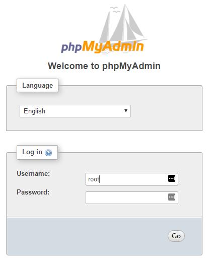 WAMP login screen