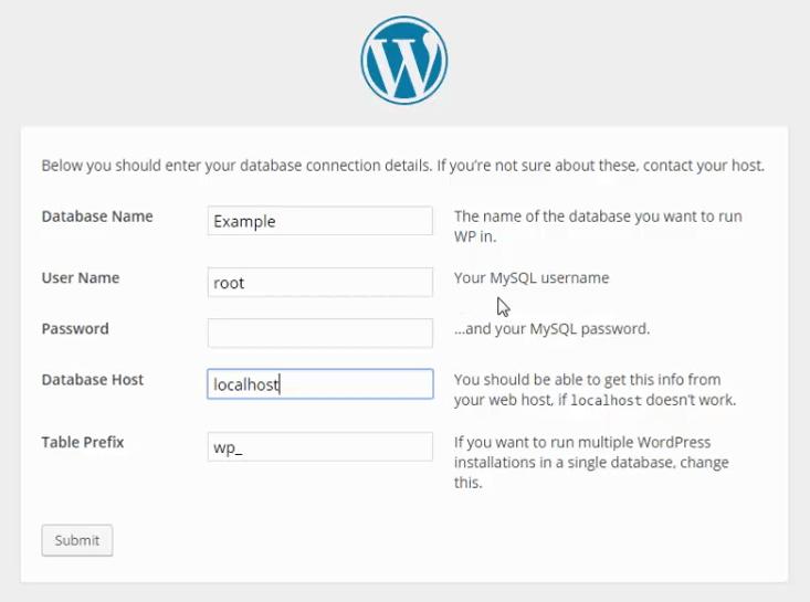 WAMP WordPress Installation