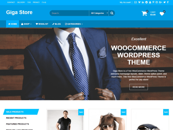 Giga Store-WordPress Theme