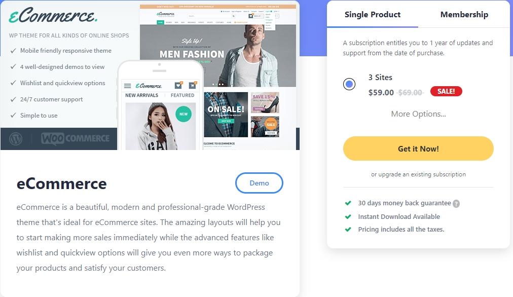 eCommerce-WooCommerce theme
