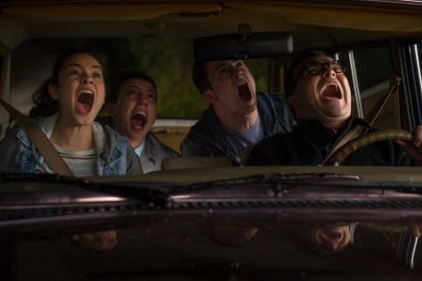 L-r, Odeya Rush, Ryan Lee, Dylan Minette and Jack Black star in Columbia Pictures'