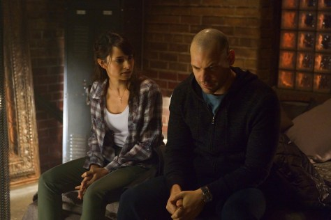 "THE STRAIN -- ""Intruders"" -- Episode 208 (Airs August 30, 10:00 pm e/p) Pictured: (l-r) Mia Maestro as Nora Martinez, Corey Stoll as Ephraim Goodweather. CR: Michael Gibson/FX"