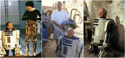 Kenny baker on set