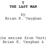 Review: Y: The Last Man script by Brian K Vaughan