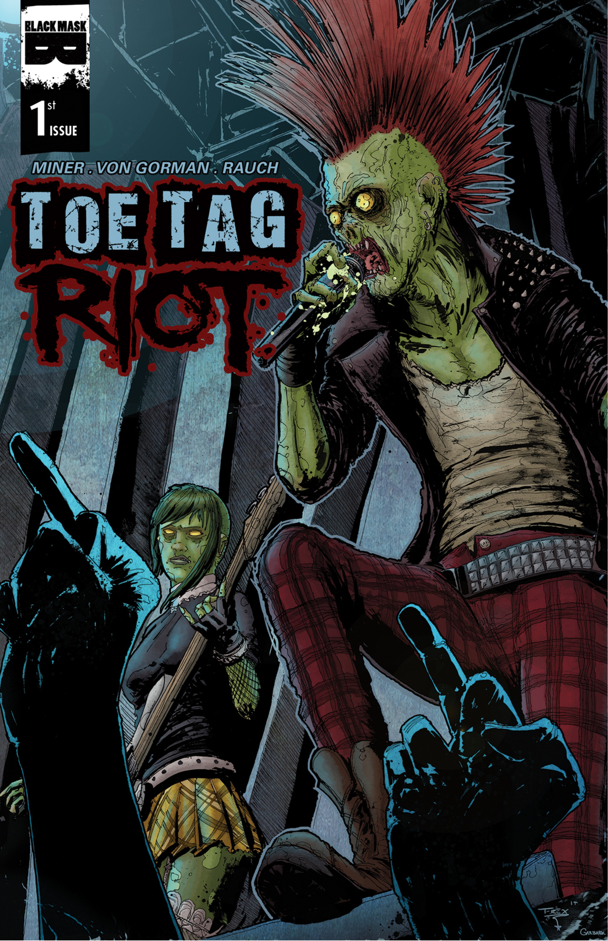 """Bigots Don't Stand a Chance Against Zombie Punk Rockers in the Brains-Filled """"Toe Tag Riot"""" #1 [Review]"""