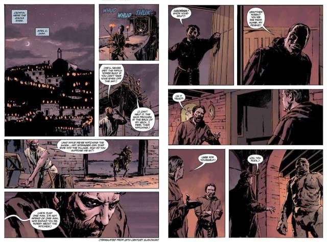 Joe Golem #4, page 4-5
