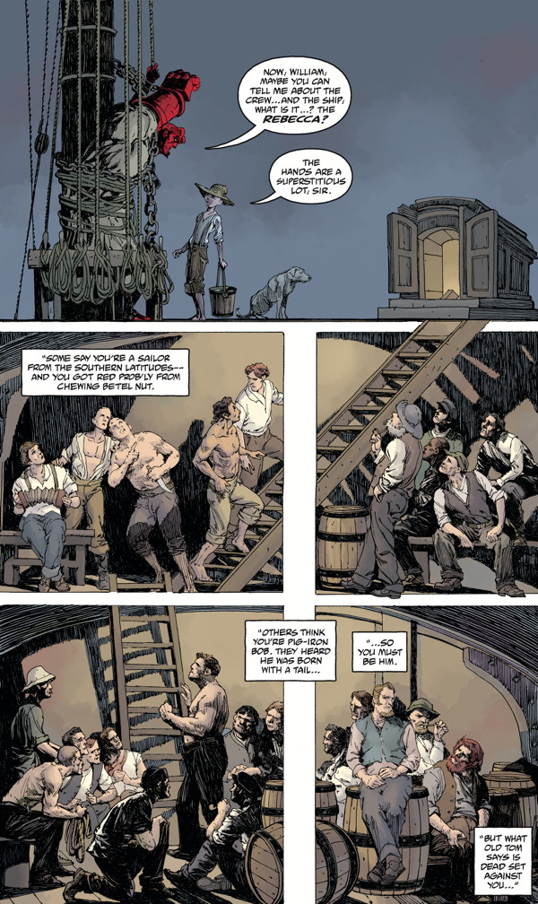 """""""Hellboy: Into the Silent Sea"""" preview page 3"""