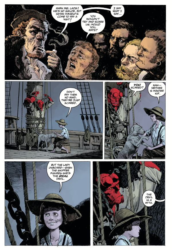 """Hellboy: Into the Silent Sea"" preview page 4"