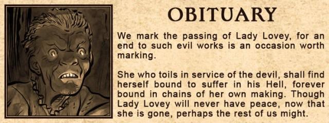 Lady Lovey's obituary
