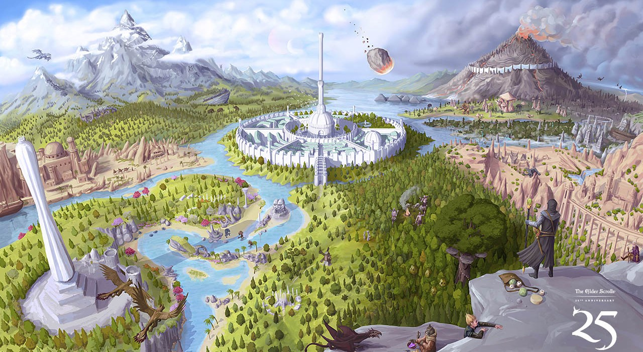 The-Elder-Scrolls-25th-anniversary-art