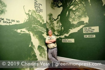 Charles Vess - Into The Green mural