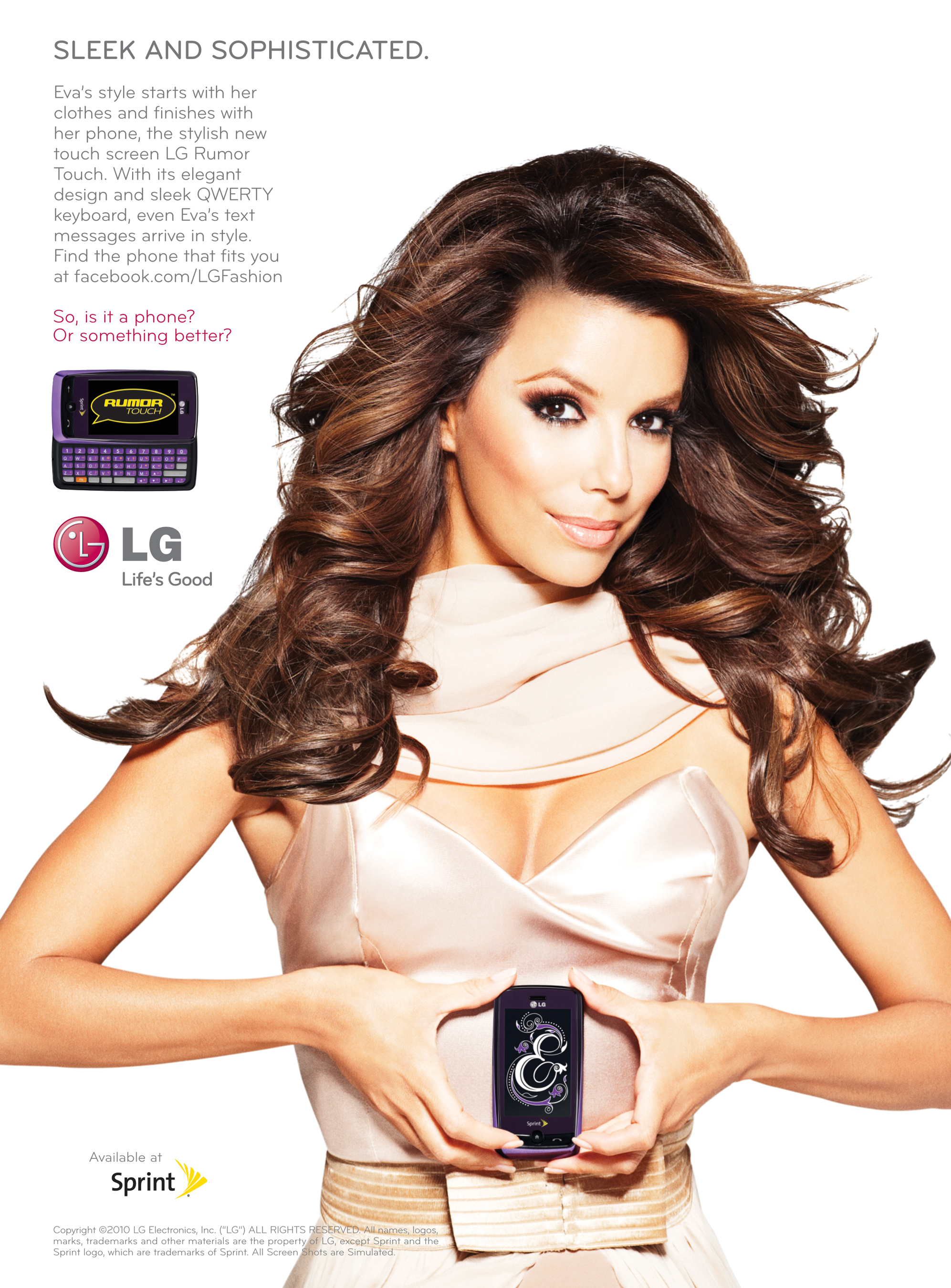 Eva Longoria LG Rumor Touch Advert