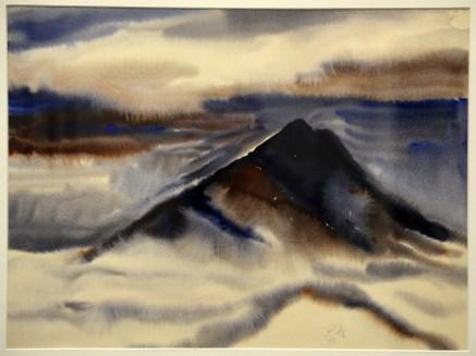 """Dark Peak in Clouds"" by Paul Mannen"