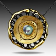 18k Gold Pearl Pendant